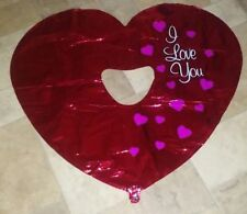 "HUGE ❤ Heart Mylar Balloon ❤37"" I Love You~ Engagement Day Perhaps?"