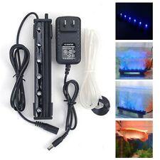 Aquarium Blue Air Bubble 6 LED Submersible Light Fish Tank Underwater Lamp  D1