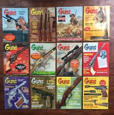 Guns Magazine 1964 Thru 1968 Set 12 Issues Rifle Handgun Machine Gun Safari Hunt