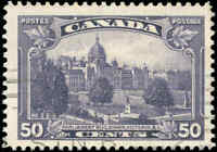 Used Canada 50c F+1935 Scott #226 King George V Pictorial Stamp