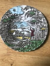 Decrotive China Tea Plate 'The Hunter' By Myott Hand Engraved Made In England