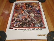 1995 LAURENCE WALDEN- LEGACY OF THE MILLION MAN MARCH POSTER ARTIST INK SIGNED