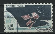 FRANCE TIMBRE OBL N° 1476 LANCEMENT DU SATELLITE D1 A HAMMAGUIR ALGERIE