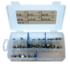 StainlessTown 18-8 Stainless Acorn Cap Nut Assortment Kit 6-32 to 3/8-16