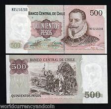 CHILE 500 PESOS P153 2000 SANTIAGO FLAG MILLENNIUM UNC LATINO CURRENCY 20 NOTE