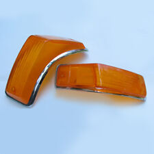 VW KARMANN GHIA FRONT SIGNAL LENS, 1970-1974, ALL AMBER/YELLOW, ONE PAIR, NEW!!