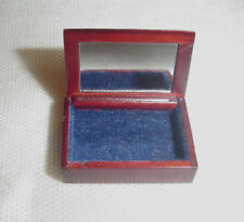 Dolls House Miniature Mahogany Jewellery Box in 12th scale