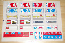 Lego STICKER SHEET - Big NBA Logo Legoland Sports Stadium 3432 * NEW Condition