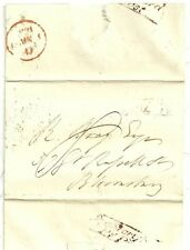 c.1830 BISHOPS STORTFORD PENNY POST & No 7 R/H REVERSED N TO R BRAY IN LONDON