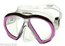 Atomic SubFrame Dive Mask for FreeDiving Scuba Snorkeling Clear/Pink