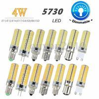 G4/G9/E11/E12/E14/E17/BA15D 4W Dimmable 80 LED 5730 SMD Light Lamp Bulb