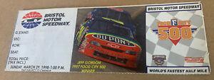 NASCAR 1998 Food City 500 Ticket Stub Jeff Gordon 31st Win