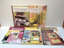 5 SCRAPBOOKING books family history creative cards sketches BECKY HIGGINS