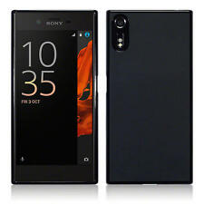 Terrapin Delgada De Goma Gel Estuche Cubierta Para Sony Xperia Xz/xzs Negro Mate