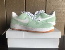 NIKE AIR FORCE 1 ARCTIC GREEN MINT WHITE SUEDE GUM SOLE AF1 488298 309 Size 13