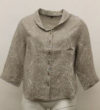 SPRING FLAX LINEN UPDATED POET BUTTONED SHIRT PECAN VINE PLUS SIZE 2G 2X NWT
