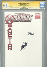 Avengers X-Sanction 1 CGC 9.8 SS X2 Blank cover Stan Lee McGuiness Wolverine WP