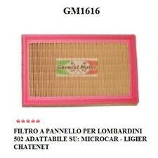 FILTRO ARIA MOTORE LOMBARDINI A PANNELLO MICROCAR LIGIER TASSO GM1616