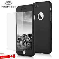 360° Full Body Ultra Thin Hard Case Cover+Tempered Glass Screen for iPhone 7 4.7
