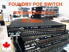 Foundry FastIron GS 648P-PoE 48 Port Gigabit Switch FGS648P-POE with 10G module