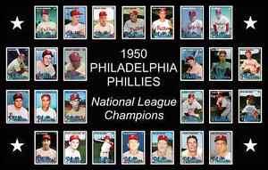 1950 PHILADELPHIA PHILLIES World Series POSTER Man Cave Decor Wall Art Xmas Gift