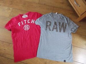 MENS ABERCROMBIE & FITCH G-STAR T-SHIRTS SIZE XL