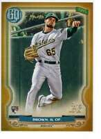 Seth Brown 2020 Topps Gypsy Queen 5x7 Gold #91 /10 Athletics