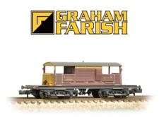 Graham Farish 377-877 Queen Mary Brake Van EWS (Weathered) N Gauge