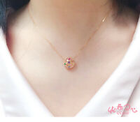 Sailor Moon 20th Anniversary Silver Rose Gold Necklace Pendant Girl Cute Gifts