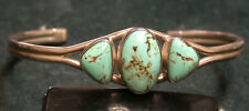 "Signed ""KRS"" Kirk Smith Sterling Silver Bracelet with Turquoise!"