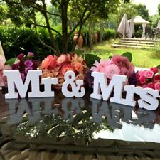 Wedding Decoration Mr & Mrs White Wooden Letters Sign For Sweetheart Table Decor
