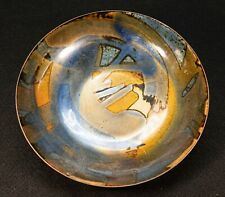 Oppi Untracht,  American Metalsmith mid century Enamel Copper bowl Great Design