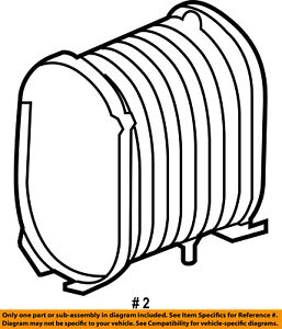 FORD OEM 03-07 F-350 Super Duty Engine-Air Cleaner Filter Element 4C3Z9601AA