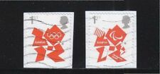 GREAT BRITAIN 2012 LONDON OLYMPIC & PARALYMPIC GAMES SA 1ST CLASS 2 STAMPS USED