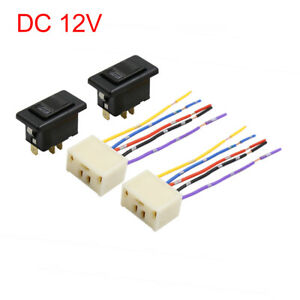5 Pin Car Power Window Switch with Wiring Harness Pigtail Socket DC 12V 4 in 1