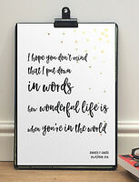 Anniversary Song Words Print | Your Song Elton John | A4 Sized Personalised Gift