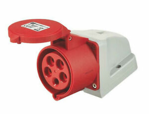 MK K9241RED Socket Outlet Angled Surface Mounting 32A 3P+N+E (5 pole)