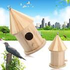 Wooden Bird House Birdhouse Hanging Nest Nesting Box For Home Garden Decoration