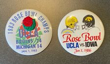2 Collectible UCLA BRUINS ROSE BOWL Champs BUTTONS vs. Michigan 1983 & IOWA 1986