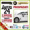 Adesivo KOBE BRYANT 01 Vinile Prespaziato Auto Moto Casco LOS ANGELES LAKERS 24