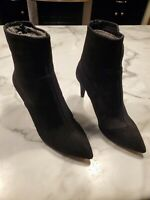 NIB Free People Size 38 Women's Black Leather Willa Ankle Boot $178