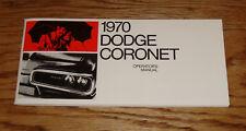 1970 Dodge Coronet Owners Operators Manual 70