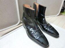 JM WESTON - Bottines cuir verni noir - Pointure 8 C ou 42