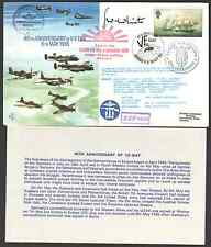 Cover GB Flown Signed 40th ANNIVERSARY of V-E DAY 08/05/85 JERSEY SHS White