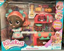 Kindi Kids SUMMER PEACHES FUN OVEN Doll & 5 Exclusive SHOPKINS Christmas Playset