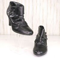 Madden Girl Black Ankle Boots Booties Size 8 Womens Buckle Sambbaa Cosplay