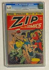 ZIP COMICS #8 MLJ Magazines 1940 CGC 6.0 Full Page ad for Shield Wizard #1