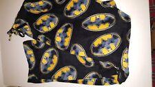 Batman Mens Logo Lounge Sleep Pant XL Pajama Bottom Black Yellow NWT New