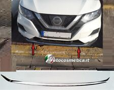 Spoiler sotto paraurti Nissan Qashqai 17-2018 anteriorei n acciaio cromo