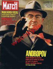 Paris Match n°1748 du 26/11/1982 Andropov Brejnev URSS Nicoletta